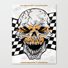 Death Valley Racers (Black Orange) Canvas Print