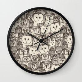 just owls natural Wall Clock