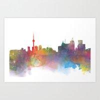 toronto Art Prints featuring Toronto  by Daniel McLaren