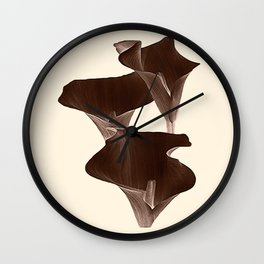 Brown Calla Lilly. Wall Clock