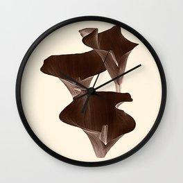 Brown Calla Lilly. Wall Clock