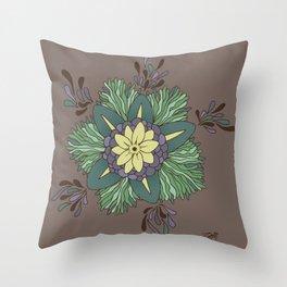 Sea Blossom Throw Pillow