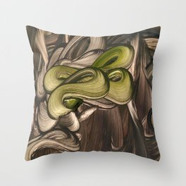 Hare of Jade Throw Pillow