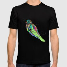 Colorful Bird Mens Fitted Tee Black 2X-LARGE