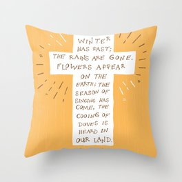 Songs of Songs Throw Pillow