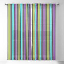 VERTICAL Retro Candy Stripe Sheer Curtain