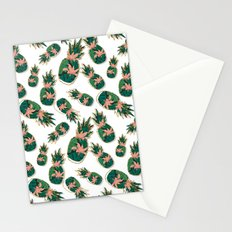 Pineapples abstract Stationery Cards