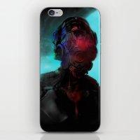cyberpunk iPhone & iPod Skins featuring Cyberpunk #2 by Lunaramour