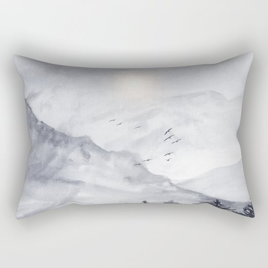 Cross Mountains Rectangular Pillow