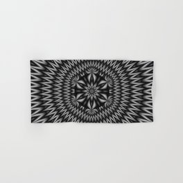 Floral Centrepiece in Black and White Hand & Bath Towel