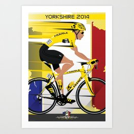 Grand Depart Yorkshire Tour De France  Art Print