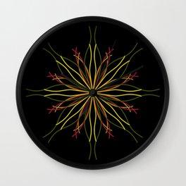 Kaleidoscopic Light Wall Clock