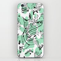 kitsune iPhone & iPod Skins featuring Kitsune Pattern by Birdcap