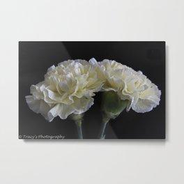 Ruffled Carnations Metal Print