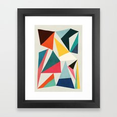 Collection of pointy summit Framed Art Print
