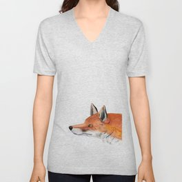 Red fox portrait Unisex V-Neck