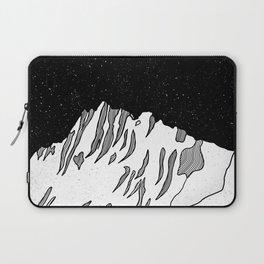 Puncak Jaya Mountain Black and White Laptop Sleeve