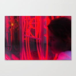 Neons rouges Canvas Print