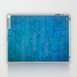 Ancient egyptian blu Laptop & iPad Skin