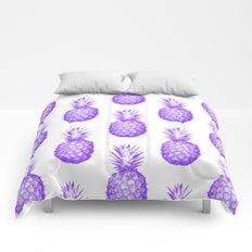 Purple Pineapple Comforters