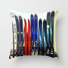 Vintage Ski Collection Throw Pillow