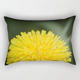 Yellow Pom Pom Flower Rectangular Pillow