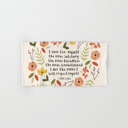 "Jane Eyre ""I Care For Myself"" Quote Hand & Bath Towel"