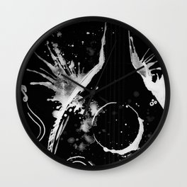 BACK TO BLACK OUD - madewithunicorndust by Natasha Dahdaleh Wall Clock