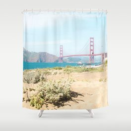 Golden Gate Bridge Beach Shower Curtain