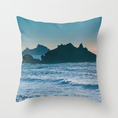 On a Saturday in Pacifica... Throw Pillow