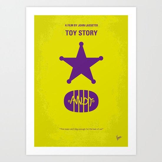 No190 My Toy Story minimal movie poster Art Print