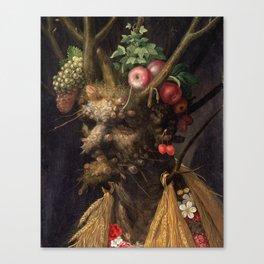 Four Seasons In One Head - Giuseppe Arcimboldo Canvas Print