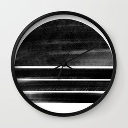 black and white shapes Wall Clock