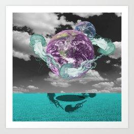 Jelly Planet Art Print