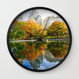 City's Autumn Wall Clock