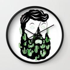 Cactus Beard Dude Wall Clock