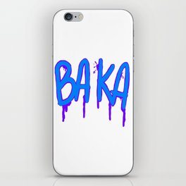 Baka Series (White) iPhone Skin