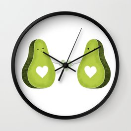 Avocado love Wall Clock