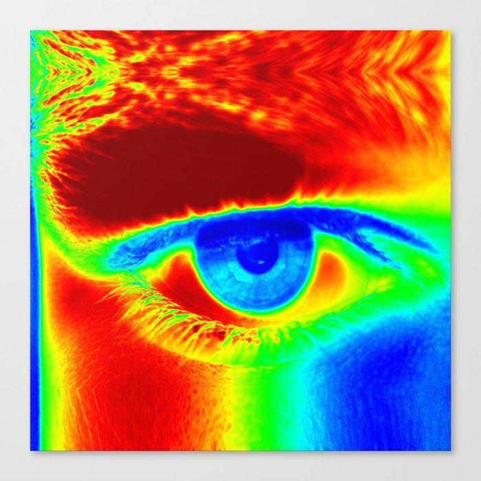 Heat Map, Fun Eye Canvas Print