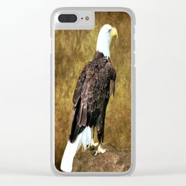 American Bald Eagle Clear iPhone Case
