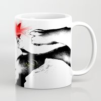 cyclops Mugs featuring Cyclops Blast by Scofield Designs