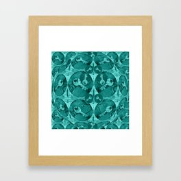 Keys in Aquamarine Bubble Framed Art Print