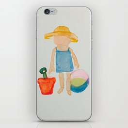 Toddies Summer Beach Holiday Baby Girl iPhone Skin