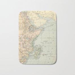 North East Africa Vintage Map Bath Mat