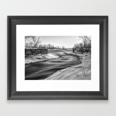 Down to the river Framed Art Print