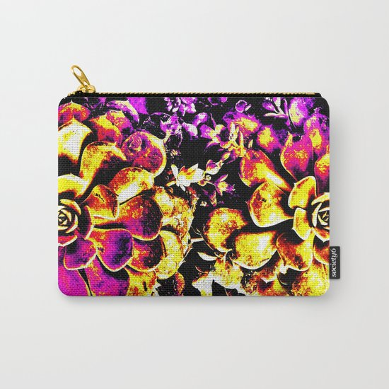 Purple Yellow Flower Plant, Pop Art Carry-All Pouch