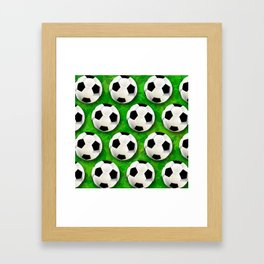 Soccer Ball Football Pattern Framed Art Print