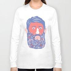 Flowers in Beard Long Sleeve T-shirt