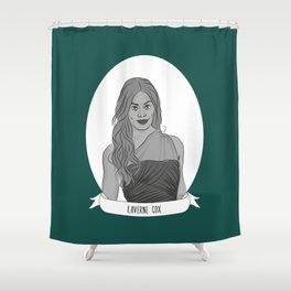 Laverne Cox Illustrated Portrait Shower Curtain