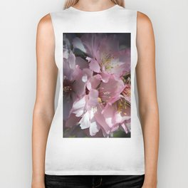 Pink Almond Flowers Biker Tank